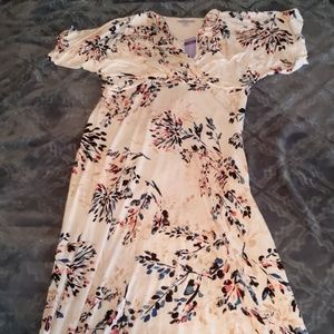White floral nursing dress